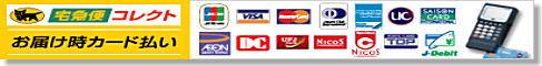 配達時クレジットカード&デビットカード払いもOK