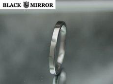 画像2: 3号から23号!BLACK MIRROR【ブラックミラー】タングステンリング 平内リング2mm幅リング (2)