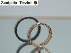 画像3: Zanipolo Terzini【ザニポロタルツィーニ】♪ステンレスリング ブラック単品 (3)