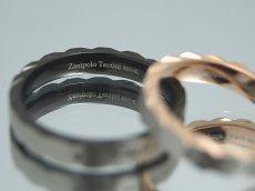 画像4: Zanipolo Terzini【ザニポロタルツィーニ】♪ステンレスリング ブラック単品 (4)