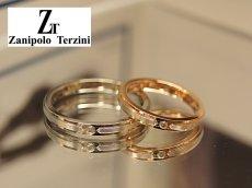 画像2: Zanipolo Terzini【ザニポロタルツィーニ】サージカルステンレスダイヤモンドペアリング (2)