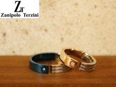 画像3: Zanipolo Terzini【ザニポロタルツィーニ】サージカルステンレスダイヤモンドペアリング (3)