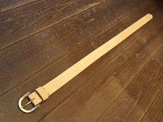 画像3: 栃木レザー【サドルレザー】プレーンベルト♪真鍮バックル★長さオーダー可能 28インチから49インチまで (3)