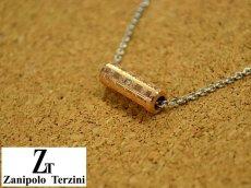 画像1: Zanipolo Terzini【ザニポロタルツィーニ】ステンレスシリンダーペンダント&チェーンセット ローズゴールド (1)