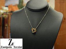 画像4: Zanipolo Terzini【ザニポロタルツィーニ】ステンレスリングモチーフペンダント&チェーンセット ゴールド (4)