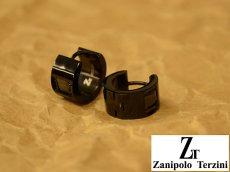 画像3: Zanipolo Terzini【ザニポロタルツィーニ】ステンレスピアス フープタイプストーン (3)