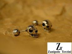 画像2: Zanipolo Terzini【ザニポロタルツィーニ】ステンレスピアス スカルモチーフ (2)
