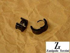 画像4: Zanipolo Terzini【ザニポロタルツィーニ】ステンレスピアス フープタイプストーン (4)
