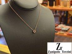画像4: Zanipolo Terzini【ザニポロタルツィーニ】ステンレスドーナツリングペンダント&チェーンセット ピンクゴールド (4)