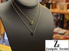 画像7: Zanipolo Terzini【ザニポロタルツィーニ】ステンレスドーナツリングペンダント&チェーンセット ペアセット (7)