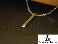 画像6: Zanipolo Terzini【ザニポロタルツィーニ】ステンレスシンプルスティックペンダント&チェーンセット ペアセット (6)