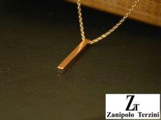 画像5: Zanipolo Terzini【ザニポロタルツィーニ】ステンレスシンプルスティックペンダント&チェーンセット ペアセット (5)