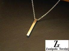 画像2: Zanipolo Terzini【ザニポロタルツィーニ】ステンレスシンプルスティックペンダント&チェーンセット ペアセット (2)