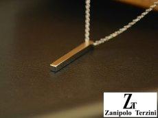 画像4: Zanipolo Terzini【ザニポロタルツィーニ】ステンレスシンプルスティックペンダント&チェーンセット ペアセット (4)