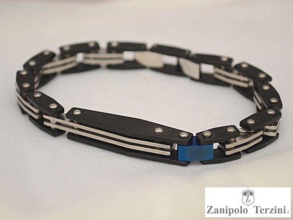 画像1: Zanipolo Terzini【ザニポロタルツィーニ】ステンレスブルーポイントブレスレット ZTB1913 (1)