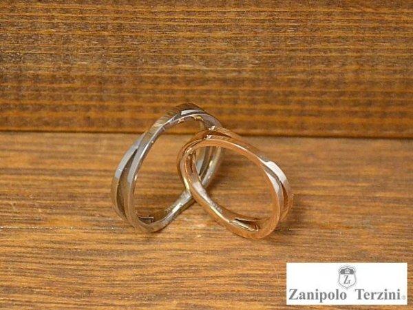 画像1: シンプルクロスサージカルステンレスペアリング【ザニポロタルツィーニ】Zanipolo Terzini (1)