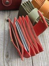 画像3: 本革ジャバラカードケース たくさんあるカードをしっかり収納!仕分けも! (3)
