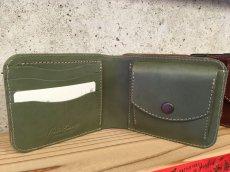 画像2: シンプルisベスト!スタンダード二つ折り財布!本革折財布 (2)