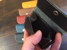 画像3: カードも!お札も!小銭も!本革ミニミニ財布♪ (3)