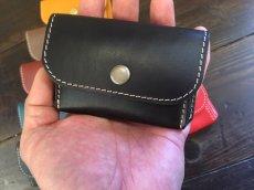 画像2: カードも!お札も!小銭も!本革ミニミニ財布♪ (2)