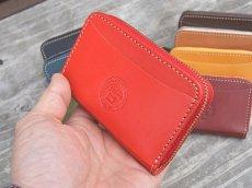 画像4: ポケットにすっぽり収まるラウンドファスナーコンパクトウォレット!本革ミニ財布 (4)