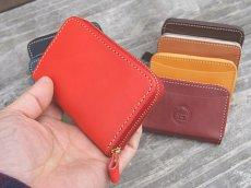 画像3: ポケットにすっぽり収まるラウンドファスナーコンパクトウォレット!本革ミニ財布 (3)