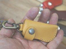 画像5: 【100円が5枚入るよ】本革ミニウォレット型キーホルダーコインケース (5)