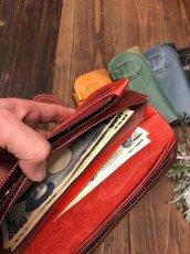 画像5: 〈受注生産〉Rデザインの存在感あるお財布!差し込みタイプ本革ロングウォレット! (5)