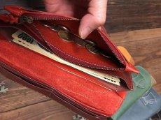 画像4: 〈受注生産〉Rデザインの存在感あるお財布!差し込みタイプ本革ロングウォレット! (4)