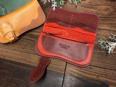 画像3: 〈受注生産〉Rデザインの存在感あるお財布!差し込みタイプ本革ロングウォレット! (3)