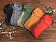 画像2: 〈受注生産〉Rデザインの存在感あるお財布!差し込みタイプ本革ロングウォレット! (2)