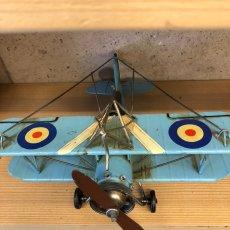 画像4: 【ブリキ飛行機模型】スカイブルーの複葉機★プロペラ機 (4)