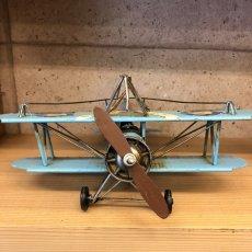 画像3: 【ブリキ飛行機模型】スカイブルーの複葉機★プロペラ機 (3)