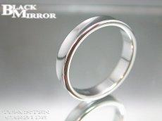 画像2: BLACK MIRROR【ブラックミラー】タングステンリング 逆甲丸リング4mm幅 5,7,9,17,23号のみ (2)