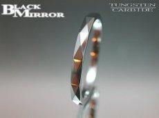 画像2: BLACK MIRROR【ブラックミラー】タングステンリング ダイヤモンドカット2mm幅 13,15,19,21号のみ (2)