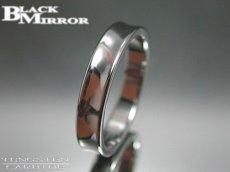 画像1: BLACK MIRROR【ブラックミラー】タングステンリング 逆甲丸リング4mm幅 5,7,9,17,23号のみ (1)