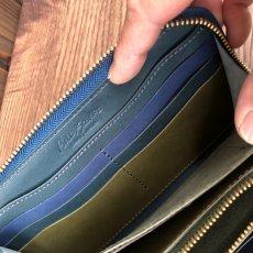 画像7: ☆限定販売☆象革&牛革ラウンドファスナー長財布  写真の1点をお届けします (7)