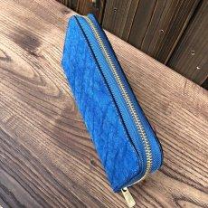 画像2: ☆限定販売☆象革&牛革ラウンドファスナー長財布  写真の1点をお届けします (2)