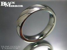画像2: 最終処分!BLACK MIRROR【ブラックミラー】タングステンリングBMR-M11 (2)