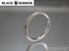 画像2: BLACK MIRROR【ブラックミラー】タングステンリング モザイクリング2mm幅 (2)