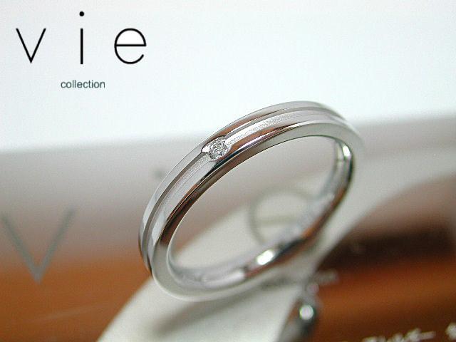 画像1: vie【ヴィー】1号から21号!天然ダイヤモンドステンレスリング シルバータイプR1092W刻印可能! (1)