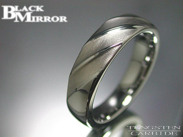 画像1: 最終処分!BLACK MIRROR【ブラックミラー】タングステンリングBMR-M11 (1)