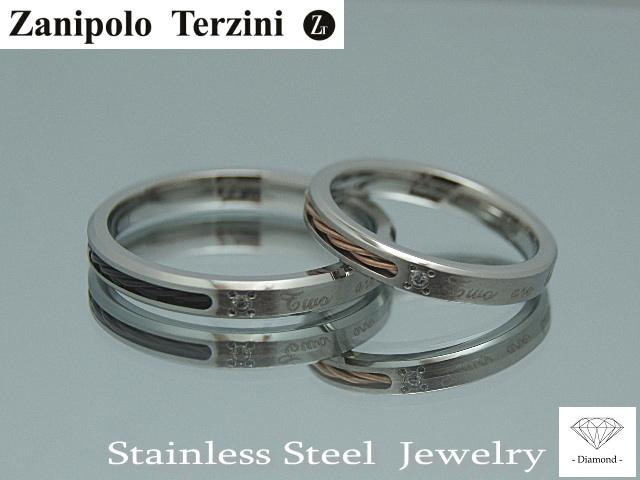 画像1: Zanipolo Terzini【ザニポロタルツィーニ】ステンレスリング 単品販売 (1)
