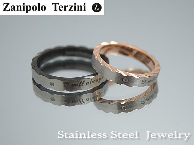 画像1: Zanipolo Terzini【ザニポロタルツィーニ】♪ステンレスリング ブラック単品 (1)
