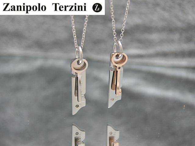 画像1: Zanipolo Terzini【ザニポロタルツィーニ】キーモチーフタグステンレスペンダント&チェーンセット (1)