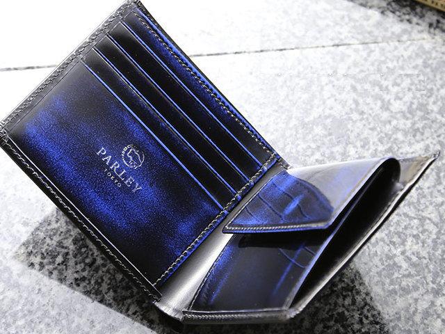 画像1: 革工房【パーリー】クラシックプレミアム二つ折財布!オール牛革キップ使用♪ (1)