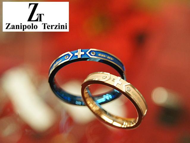画像1: Zanipolo Terzini【ザニポロタルツィーニ】サージカルステンレスダイヤモンドペアリング (1)