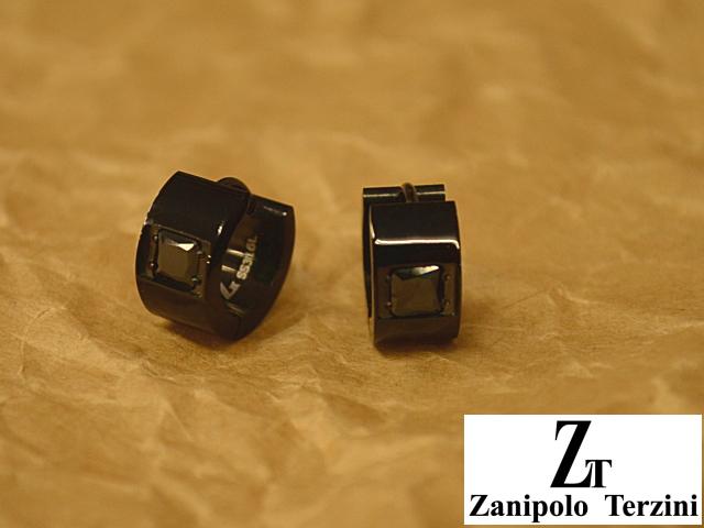 画像1: Zanipolo Terzini【ザニポロタルツィーニ】ステンレスピアス フープタイプストーン (1)