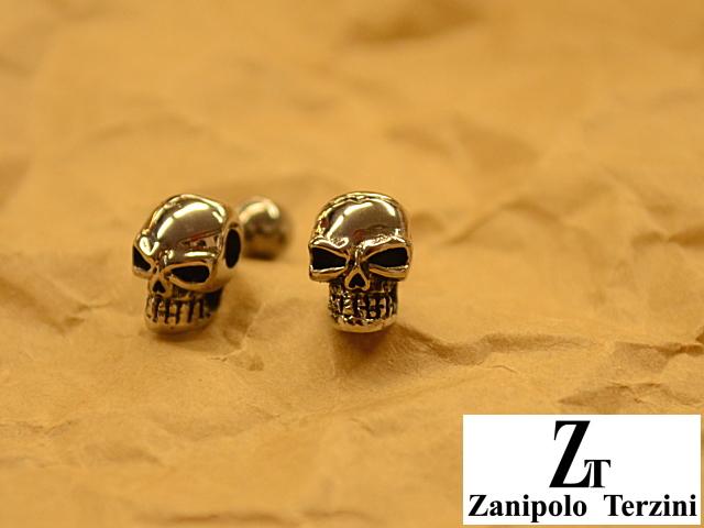 画像1: Zanipolo Terzini【ザニポロタルツィーニ】ステンレスピアス スカルモチーフ (1)
