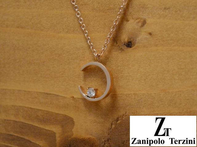 画像1: Zanipolo Terzini【ザニポロタルツィーニ】ステンレスムーンペンダント&チェーンセット (1)